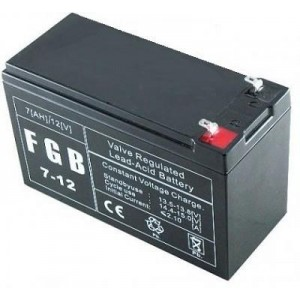BATTERY 12V 7AH VRLA/FGB7-12 EMU