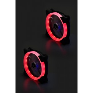 CASE FAN 120MM BULK/SINGLE LINE RED LED FAN GTT
