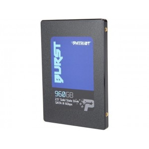 SSD | PATRIOT | 960GB | SATA 3.0 | Write speed 540 MBytes/sec | Read speed 560 MBytes/sec | 2,5"