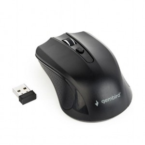 MOUSE USB OPTICAL WRL/BLACK MUSW-4B-04 GEMBIRD