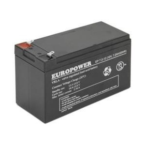 BATTERY 12V 7.2AH VRLA/EP7.2-12 T2 EUROPOWER EMU