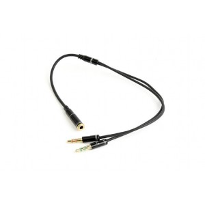CABLE AUDIO 3.5MM SOCKET TO/2X3.5MM PLUG CCA-418M GEMBIRD