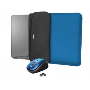 "NB SLEEVE +MOUSE 15.6"" YVO/REVERSIBLE BLUE 23452 TRUST"