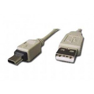 CABLE USB2 AM-MINI 0.9M WHITE/CC-USB2-AM5P-3 GEMBIRD