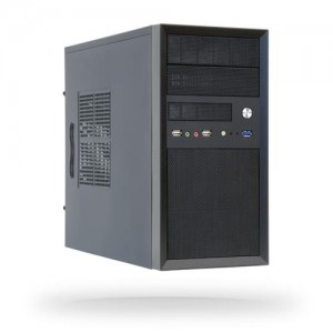 Case | CHIEFTEC | MiniTower | MicroATX | Colour Black | CT-01B-OP