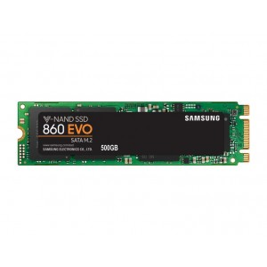SSD | SAMSUNG | 860 Evo | 500GB | M.2 | SATA 3.0 | MLC | Write speed 520 MBytes/sec | Read speed 550 MBytes/sec | MTBF 1500000 h