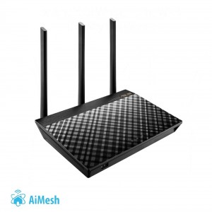Wireless Router | ASUS | Wireless Router | 1750 Mbps | IEEE 802.11ac | USB 2.0 | USB 3.0 | 1 WAN | 4x10/100/1000M | Number of an