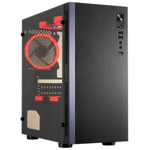 Case | GOLDEN TIGER | Raptor F-35 | MidiTower | 600 Watts | MicroATX | Colour Black | RAPTORF-35