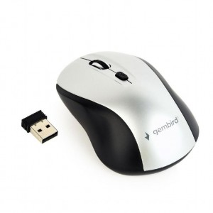 MOUSE USB OPTICAL WRL BLACK/SILVER MUSW-4B-02-BS GEMBIRD