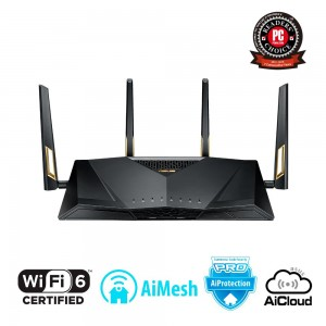 Wireless Router | ASUS | Wireless Router | 6000 Mbps | IEEE 802.11n | IEEE 802.11ac | IEEE 802.11ax | USB | 1 WAN | 8x10/100/100