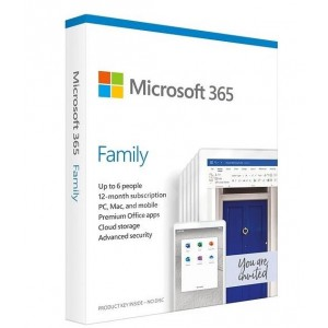 SW RET MICROSOFT 365 FAMILY/ENG 1Y P6 6GQ-01150 MS