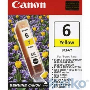 INK CARTRIDGE YELLOW BCI-6Y/4708A002 CANON