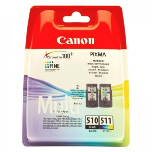 INK CARTRIDGES BLACK+COLOR/PG-510/CL-511 2970B010 CANON