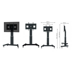 "TV SET ACC FLOOR STAND 42-100""/PLASMA-M2500BLACK NEWSTAR"