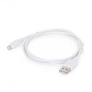 CABLE LIGHTNING TO USB2 2M/WHT CC-USB2-AMLM-2M-W GEMBIRD