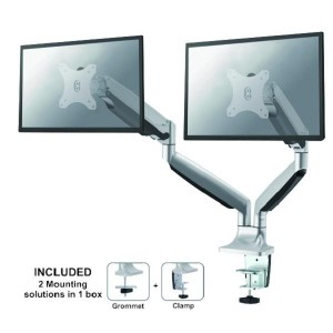 "MONITOR ACC DESK MOUNT/10-32"" NM-D750DSILVER NEWSTAR"