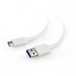 CABLE USB-C TO USB3 1M WHITE/CCP-USB3-AMCM-1M-W GEMBIRD