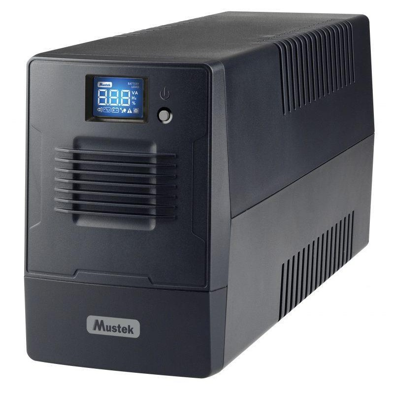 UPS | MUSTEK | 360 Watts | 600 VA | Wave form type Simulated sinewave | LineInteractive | 600-LCD-LI-T10