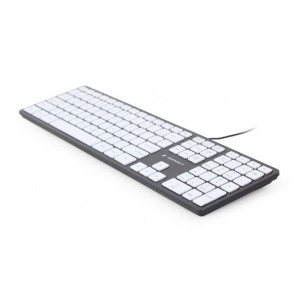 KEYBOARD MULTIMEDIA USB ENG/CHOCOL. KB-MCH-02-BKW GEMBIRD