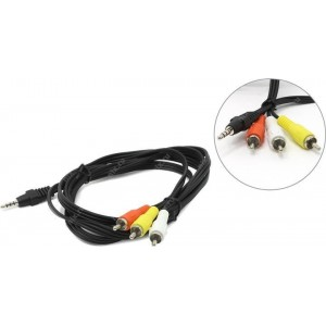 CABLE AUDIO 3.5MM 4PIN TO 3RCA/AV 2M CCA-4P2R-2M GEMBIRD