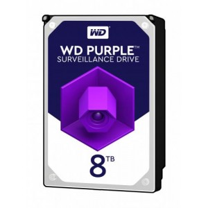 HDD | WESTERN DIGITAL | Purple | 8TB | SATA 3.0 | 256 MB | 7200 rpm | 3,5"