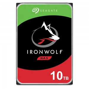HDD | SEAGATE | IronWolf | 10TB | SATA | 256 MB | 7200 rpm | Discs/Heads 8/13 | 3,5"