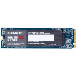 SSD | GIGABYTE | 1TB | M.2 | PCIE | NVMe | Write speed 2100 MBytes/sec | Read speed 2500 MBytes/sec | MTBF 1500000 hours | GP-GS