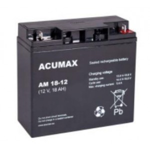 BATTERY 12V 18AH VRLA/AM18-12 ACUMAX EMU