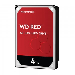 HDD | WESTERN DIGITAL | Red | 4TB | SATA 3.0 | 256 MB | 5400 rpm | 3,5"