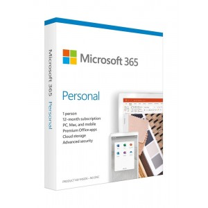 SW RET MICROSOFT 365 PERSONAL/ENG 1Y P6 QQ2-00989 MS