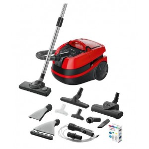 Vacuum Cleaner | BOSCH | BWD421PET | Canister/Wet/dry/Aquafilter | 2100 Watts | Black / Red | Weight 7 kg | BWD421PET