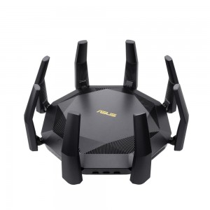 Wireless Router | ASUS | 6000 Mbps | Mesh | Wi-Fi 6 | USB 3.1 | 9x10/100/1000M | 1x10GbE | 1xSPF+ | Number of antennas 8 | RT-AX